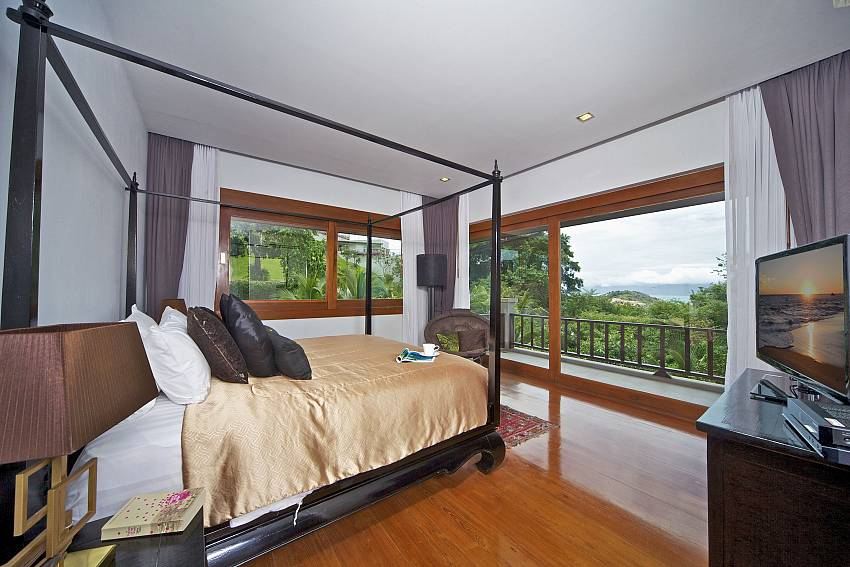 Bedroom overlooking scenery Of Summitra Villa No.2 (Third)