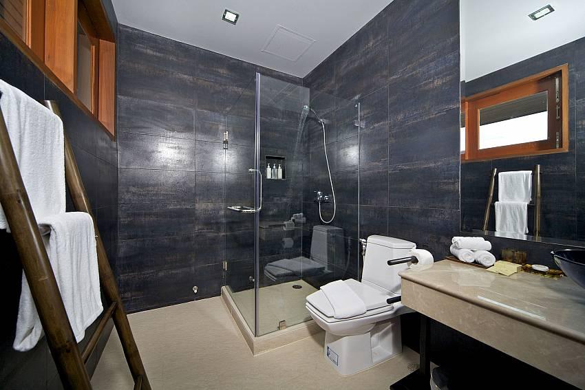 Toilet with basin wash and shower Of Summitra Villa No.2