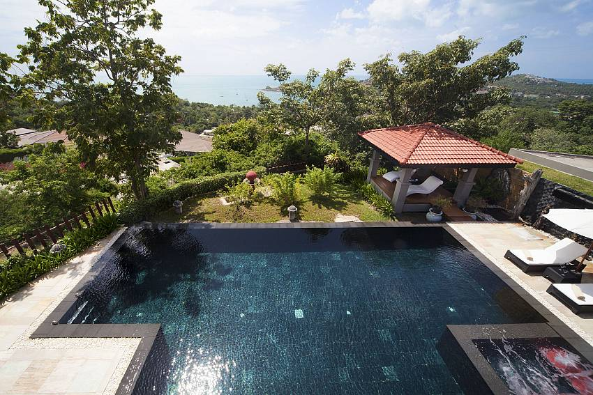 Eagle view of the 4 bedroom Summitra Villa No. 2 in Koh Samui