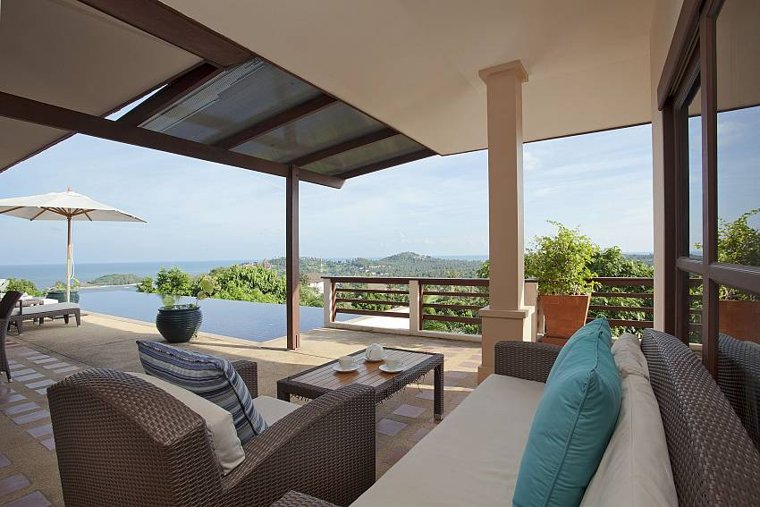 Lounging outdoor Of Cape Summitra Villa