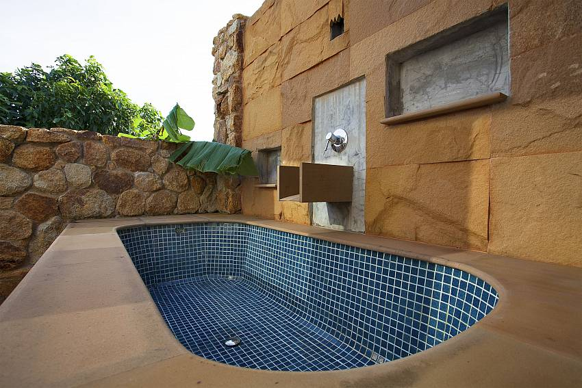 Jacuzzi tub outdoor Of Cape Summitra Villa