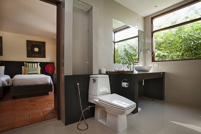 En suite bathroom at Cape Summitra Villa in Choeng Mon Koh Samui