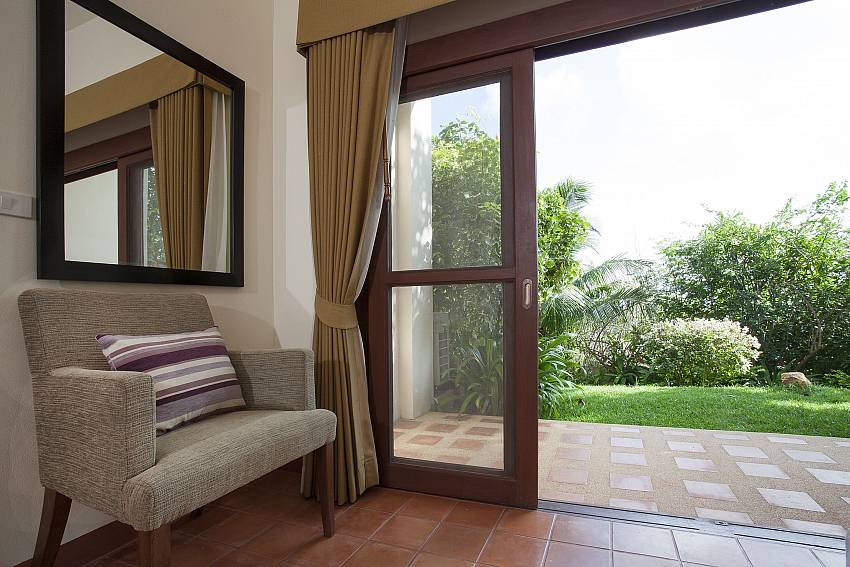 3. bedroom with direct garden access at Cape Summitra Villa in Samui
