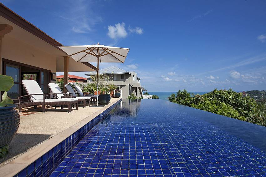 Splendid sea view from private pool area in Cape Summitra Villa Koh Samui