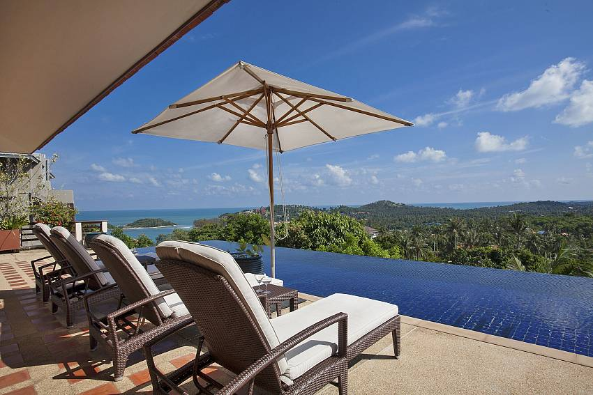 Take in the gorgeous view from your sun deck at Cape Summitra Villa Samui