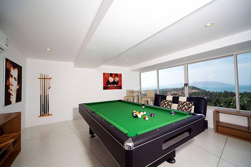 Pool table see views Of Summitra Villa No.3