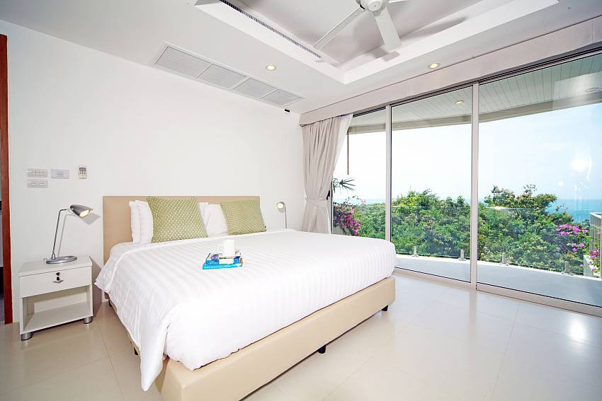 Bedroom overlooking outside Of Summitra Villa No.3 (First)