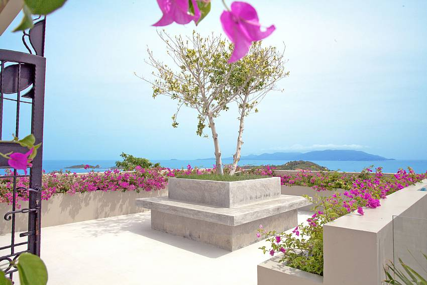 The garden and the view are spectacular at Summitra Villa No. 3 Koh Samui