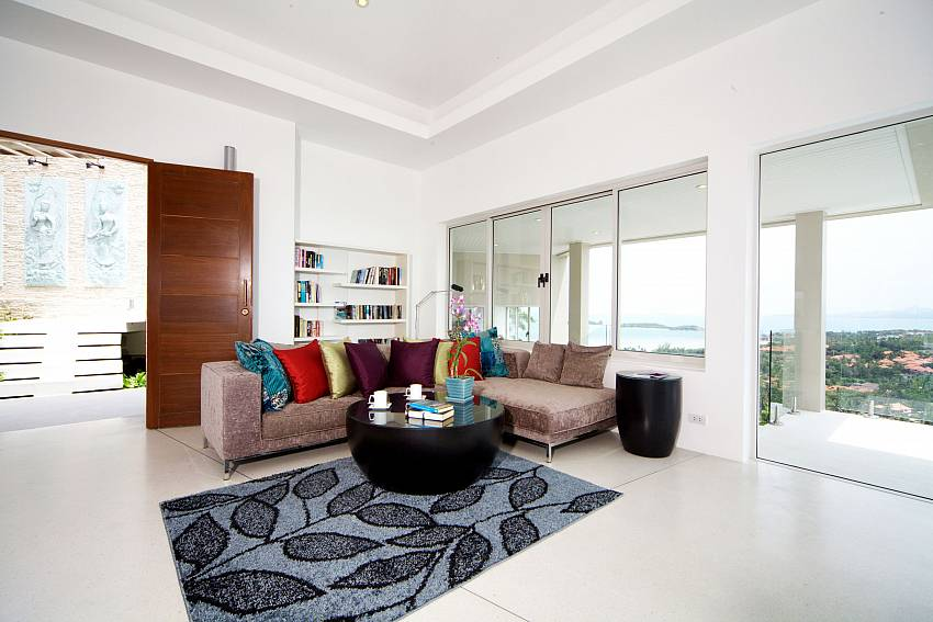 Huge living room at Summitra Villa No. 3 in Choeng Mon Koh Samui