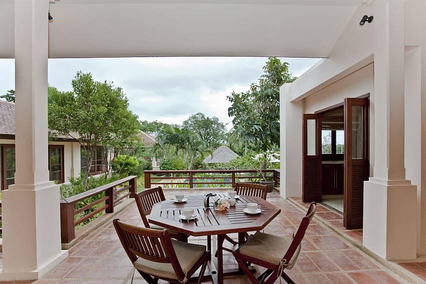 Coffee table outside Of Summitra Pavilion Villa No.10