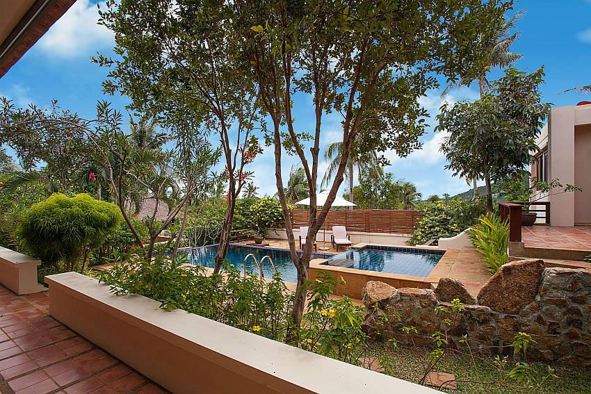 Pool view from your terrace at Summitra Pavilion Villa No. 10 Koh Samui