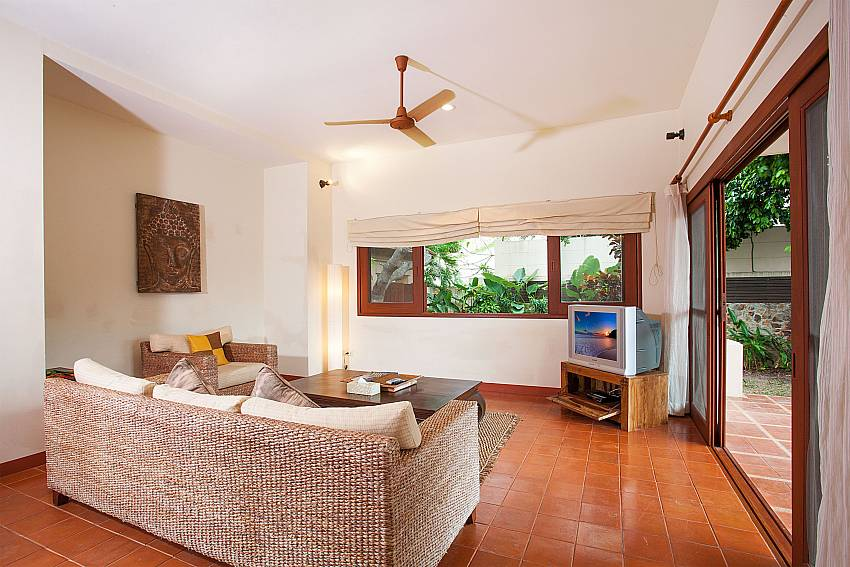 Living room with Sofa and TV at Summitra Pavilion Villa No. 10 Samui