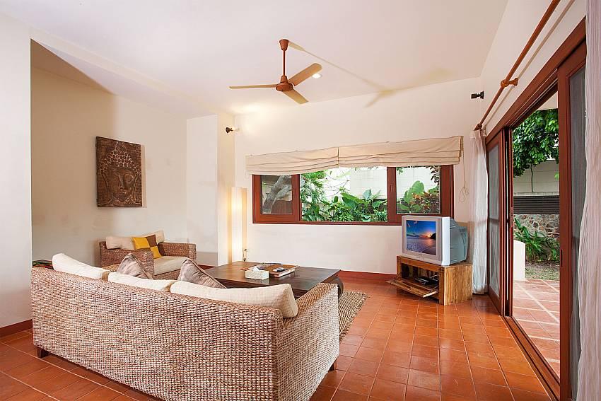 Living room with Sofa and TV at Summitra Pavilion Villa No. 10 Samui