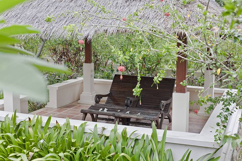 Relax in the shade by the pool pavilion at Summitra Pavilion Villa No. 10 Koh Samui