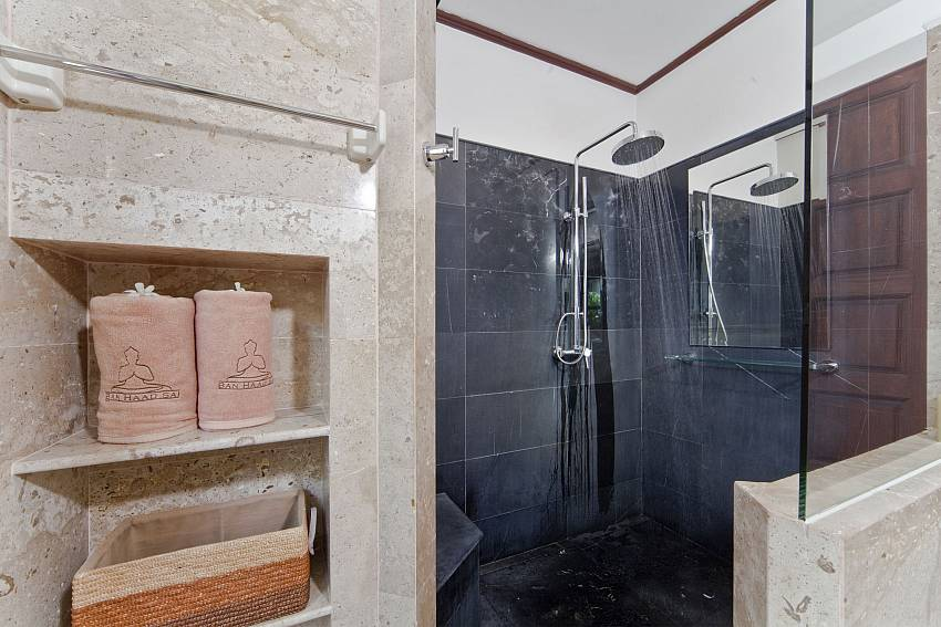 Shower with shelves Of Bangrak Beachfront Villa