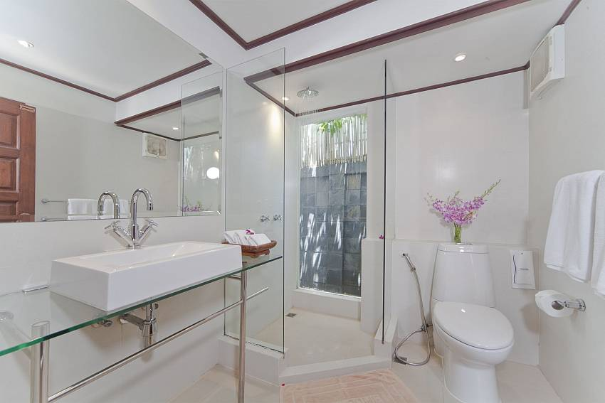 Toilet with basin wash Of Bangrak Beachfront Villa