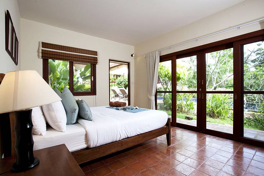 Bedroom overlooking outside Of Summitra Pavilion Villa No.3