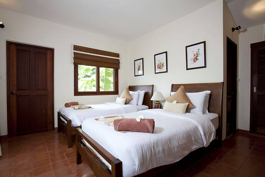 Double bedroom views Of Summitra Pavilion Villa No.3