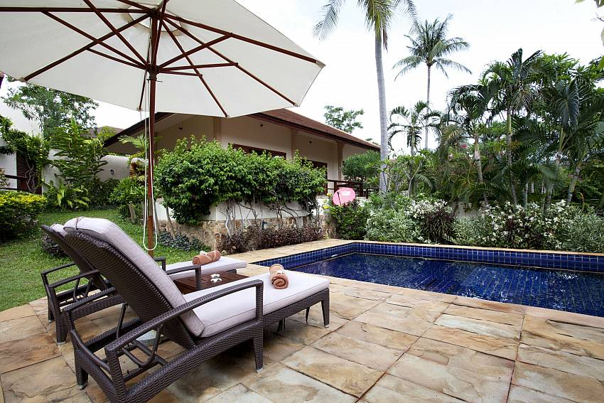 Relax by the pool in privacy at Summitra Pavilion Villa No. 3 Koh Samui