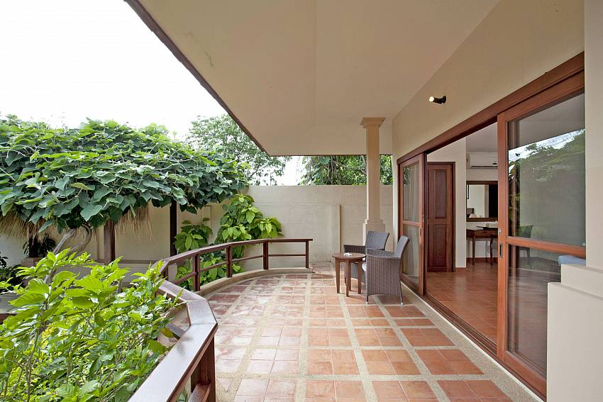 Big terrace with garden view at Summitra Pavilion Villa No. 3 Choeng Mon Koh Samui