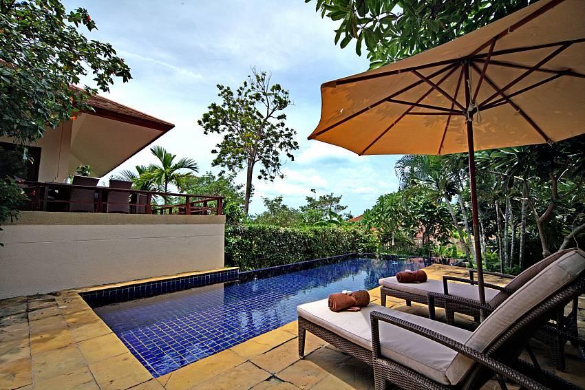 Sun bed near the pool Of Summitra Pavilion Villa No.7