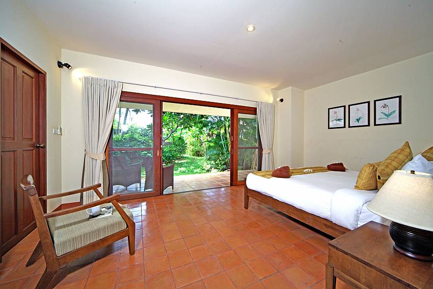 Bedroom overlooking outside Of Summitra Pavilion Villa No.7 (Third)