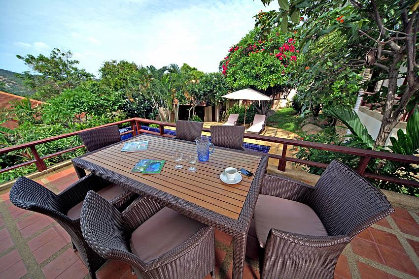 Great view from the outdoor dining table at Summitra Pavilion Villa No. 7 Koh Samui