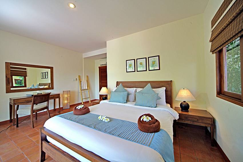 King size bedroom at Summitra Pavilion Villa No. 7 in Choeng Mon Koh Samui