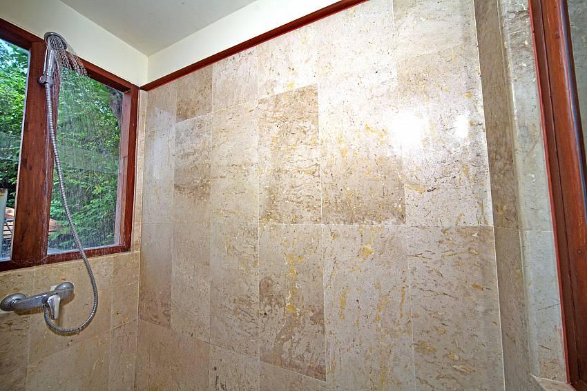 Shower at the bathroom in Summitra Pavilion Villa No. 7 Samui