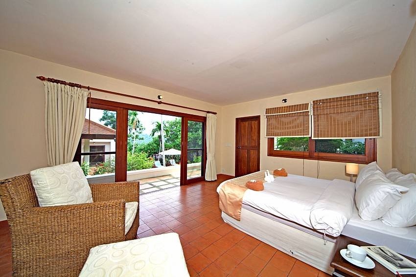 Bedroom overlooking outside Of Summitra Pavilion Villa No. 9