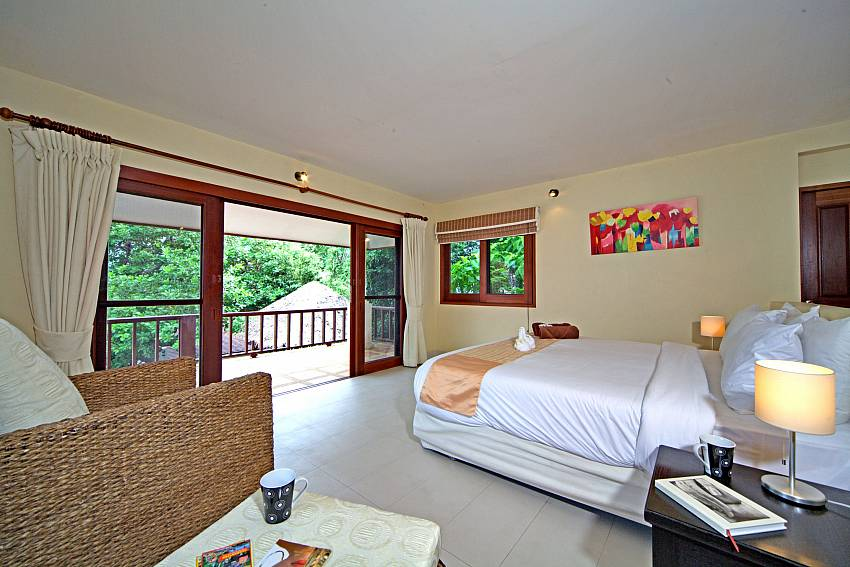 Sofa in the bedroom Of Summitra Pavilion Villa No. 9