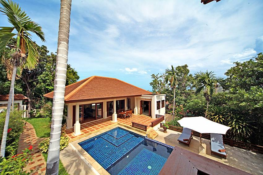 Spend a terrific holiday at your 3 bed Summitra Pavilion Villa No. 9 in Samui