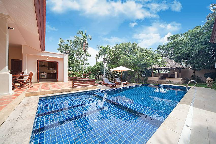 Private pool with sun beds and pavilion at Summitra Pavilion Villa No. 9 Samui