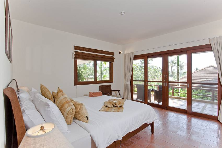 Bedroom overlooking outside Of Summitra Pavilion Villa No. 5 (First)