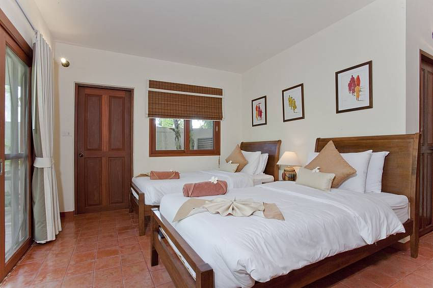 Twin bedroom Of Summitra Pavilion Villa No. 5 (Second)
