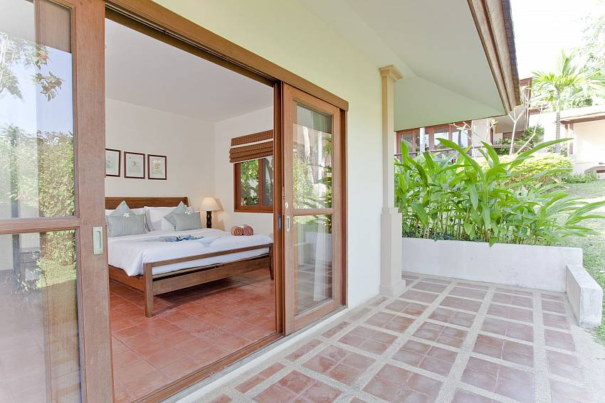 Direct access to the terrace from your bedroom at Summitra Pavilion Villa No. 5 Samui