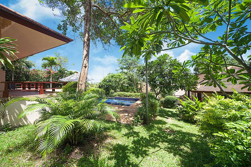 Lush green scenery at Summitra Pavilion Villa No. 5 in Choeng Mon Samui