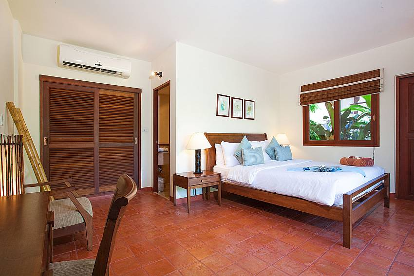 Spacious bedroom with King size bed at Summitra Pavilion Villa No. 5 Choeng Mon Koh Samui