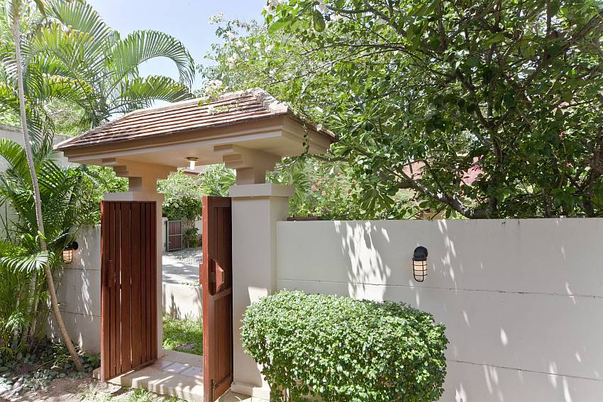 The entrance to your paradise at Summitra Pavilion Villa No. 5 Choeng Mon Koh Samui