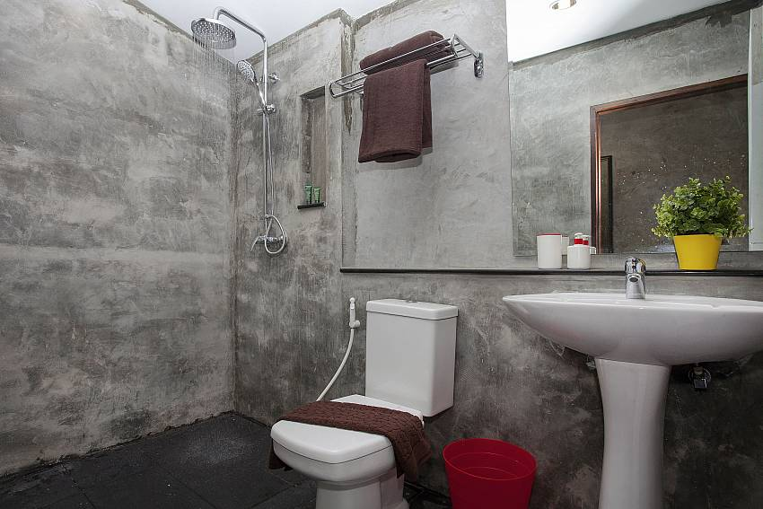 Toilet with basin wash and shower Of Debonair Grande