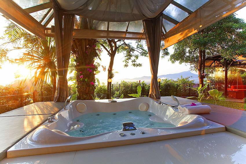Jacuzzi tub outdoor Of Krabi Sunset Hill Villa