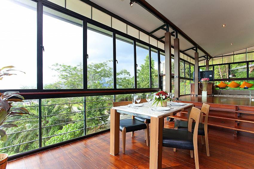 Dinning table see views Of Krabi Sunset Hill Villa