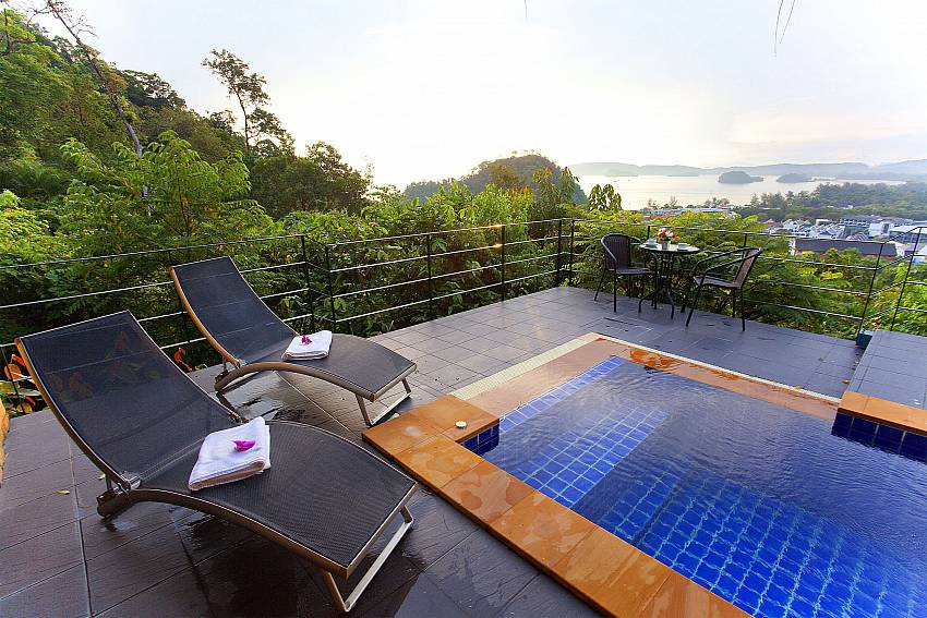 Sun bed near the pool Of Krabi Sunset Hill Villa