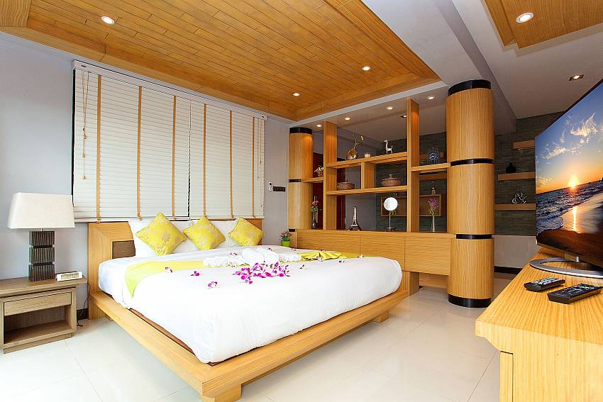 Modern style bedroom with king-size bed at Krabi Sunset Hill Villa Ao Nang
