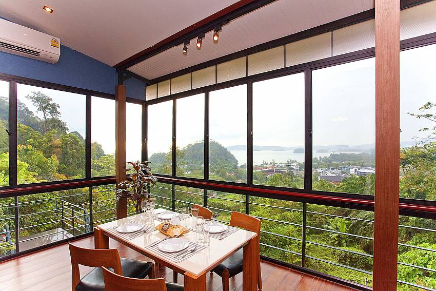 Fantastic sea view from dining table at Ao Nang Krabi Sunset Hill Villa