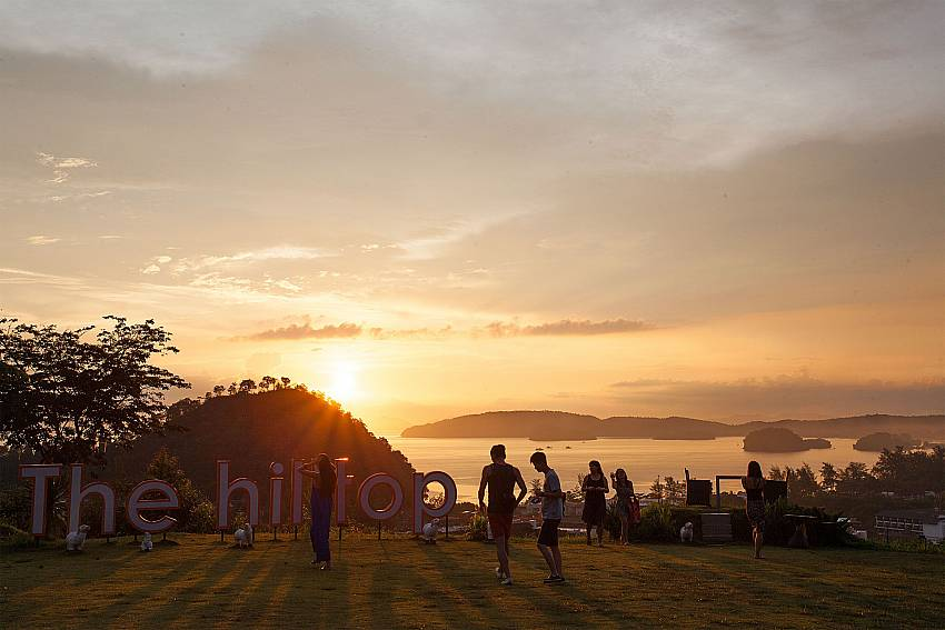 Take in the marvelous sunset near Krabi Sunset Hill Villa