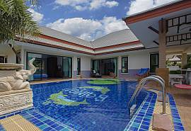 Thammachat Tani | 3 Betten Pool Ferienhaus in Bangsaray Süd Pattaya