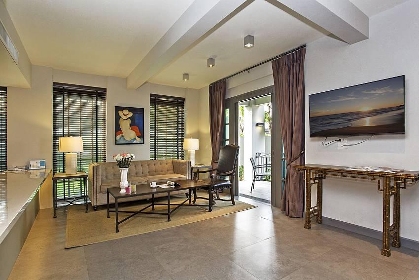 TV in the living room Of Sala Retreat Villa