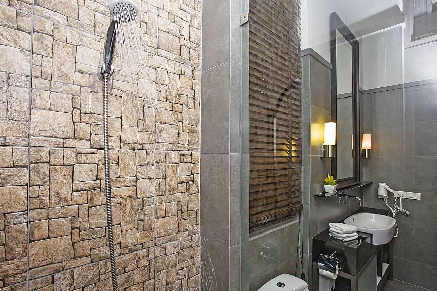 Shower with toilet and basin wash Of Sala Retreat Villa