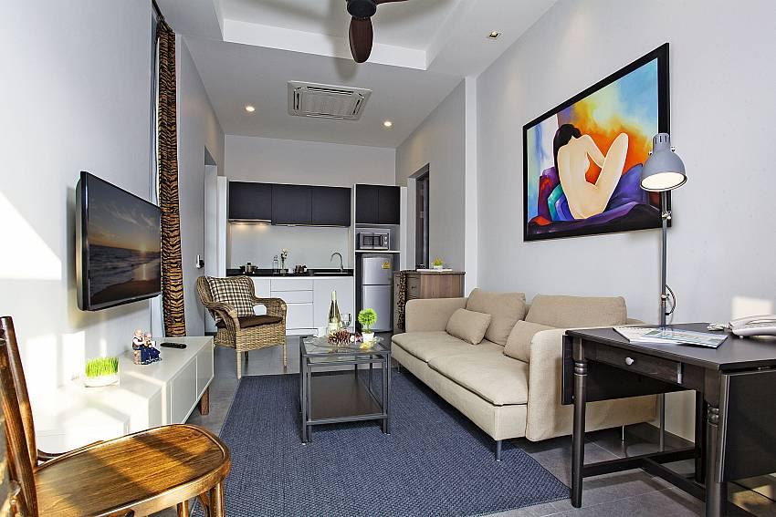 Desk near the living room Of Sala Retreat Villa